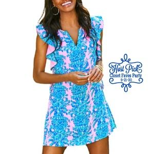 LILLY PULITZER Astara Romper Pink Dilly Dally